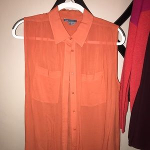 Burnt Orange Vince Top
